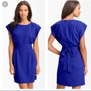 Eliza J Royal Blue Belted Dress Pockets Size 6